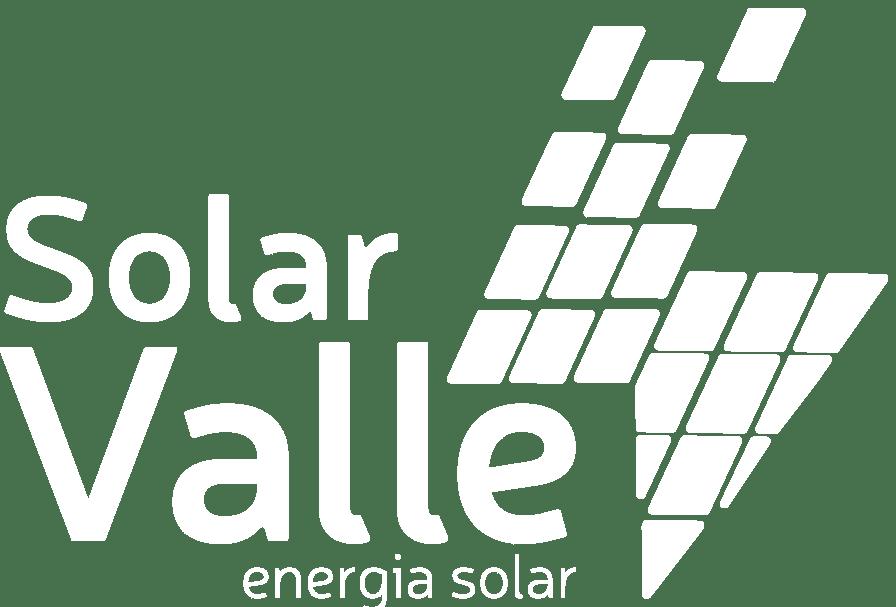 Logotipo Solar Valle na cor branca